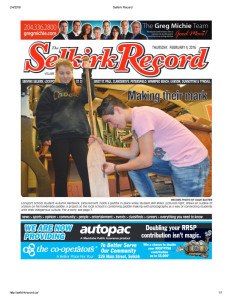 Selkirk+Record+front+page