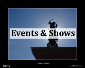 Events and Shows button