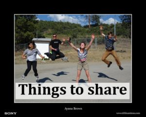 Things to share